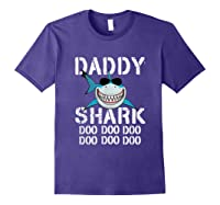 Daddy Shark Doo Doo Family Matching Shirts Purple
