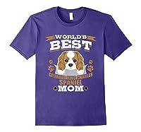 World\\\'s Best Cavalier King Charles Spaniel Mom Dog Owner T-shirt Purple