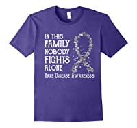 In This Family Nobody Fights Alone Rare Disease T-shirt Purple