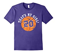 Unique That\\\'s My Girl #20 Basketball Player Mom Or Dad Gifts T-shirt Purple