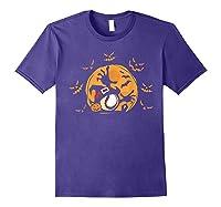 Baseball Pumpkin Witch Hat Funny Halloween Costume Shirts Purple