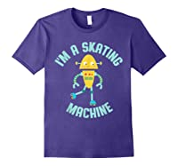 Roller Skating Robot For And Girls Shirts Purple