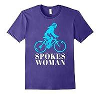Spokes Woman Cycling Shirts Purple
