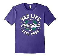 Van Dweller Clothing & Van Life Apparel - Van Life Premium T-shirt Purple