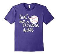 That's My Grandson Mom Baseball Shirts Purple