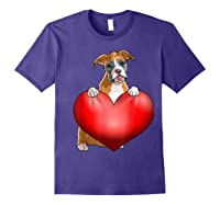Valentines Day Dog Boxer Heart Gift Girl Shirts Purple
