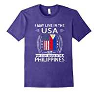 May Live N The Usa The Philippines Flag Shirts Purple