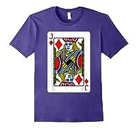 Jack Of Diamonds Playing Card Group Costume Poker Player T-shirt Purple