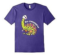 Boo Ghost Dinosaur Cute Brontosaurus Funny Halloween Gift Premium T-shirt Purple