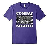 Combat Medic, Perfect Veteran Medical Military Shirts Purple