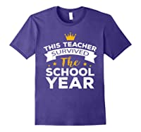 This Tea Survived The School Year - Last Day Shirt Purple