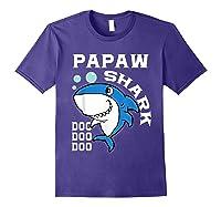 Papaw Shark Halloween Christmas Gift Shirts Purple