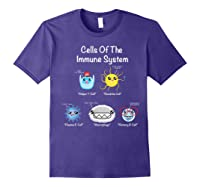 Immune System Cells Biology Cell Science Humor Immunologist Shirts Purple