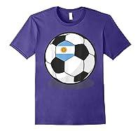Argentinian Flag On Soccer Ball   Argentina Football Shirts Purple