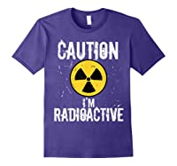Radiation Therapy Funny Cancer Get Well Soon Gift Survivor T-shirt Purple