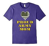 Proud Army Mom Shirts Purple