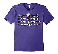 Si Hay Playa Hay Alcohol - Callaita Trap Bunny Emoji T-shirt T-shirt Purple