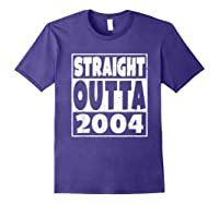 Straight Outta 2004 14th Birthday For A 14 Year Old Shirts Purple