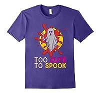 Cute Ghost Girls Costume Spooky Halloween T-shirt Purple