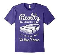 Virtual Reality Hmd Interactive Game Vr Headset Shirts Purple