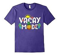 Family Vacation Holidays Vacay Mode Summer Travel Gift T-shirt Purple