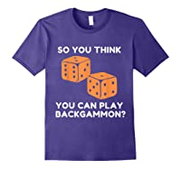 Best Ever Funny Backgammon Player Tee Board Game T Shirt Purple