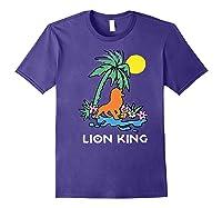 The Lion King Simba Spring Palm Tree Shirts Purple