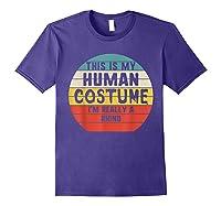This My Human Costume I'm Really A Rhino Halloween Vintage Shirts Purple