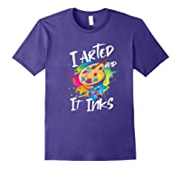 Gift For Artist Gifts For Painters Painter Gift Ideas Artist Premium T-shirt Purple