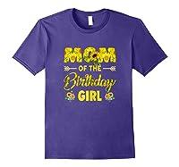 Mom Of The Birthday Girl Mom Sunflower Gifts Shirts Purple