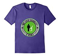 Not Every Disability Is Visible Awareness Illness Shirts Purple
