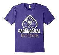Paranormal Investigator Ghost Hunter Activity Halloween Gift Shirts Purple