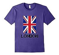 London, England Union Jack Shirts Purple