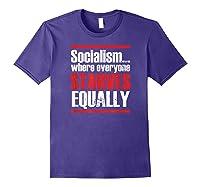 Socialism Sucks Anti Socialism Statet Shirts Purple