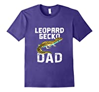 Funny Leopard Gecko Graphic Lizard Lover Reptile Dad Gift T-shirt Purple