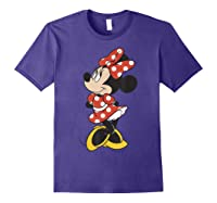 Mickey And Friends Minnie Mouse Traditional Portrait Shirts Purple