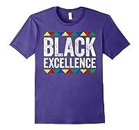 Black Excellence T-shirt Black Pride Gift T-shirt Purple