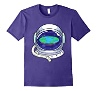 Flat Earth Map Design For A Flat Earth Society Shirts Purple