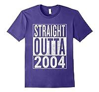 Straight Outta 2004 | Great 14th Birthday Gift Idea T-shirt Purple