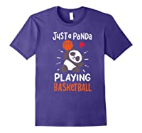 Basketball Panda Premium T-shirt Purple