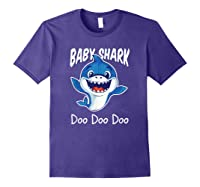 Baby Shark Doo Doo Birthday Party Gifts Girl Boy Out T-shirt Purple
