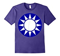 Taiwan Flag Kuomintang Symbol Shirts Purple