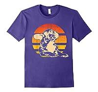 Retro French Bulldog T-shirt Gift Purple