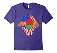 Belarusian Blood Inside Me Belarus Flag Gift Shirts Purple