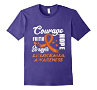 Leukemia Awareness Warrior Wear Orange Hope Gifts Shirts Purple
