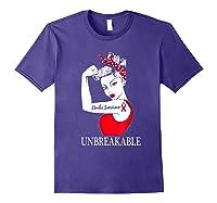 Stroke Survivor Unbreakable Strong Shirts Purple