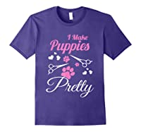 Pet Grooming For Cute Groomer Gift Shirts Purple