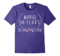 Wedding Anniversary 40th Gifts For Her Him Couples Shirts Purple