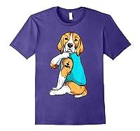 Beagle I Love Mom Apparel, Dog Mom Gifts Shirts Purple