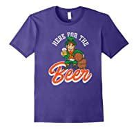 Here For The Beer | Funny St. Patrick\\'s Day Drunk Premium T-shirt Purple